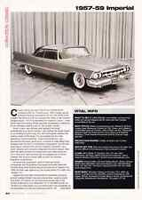 1957-1959 CHRYSLER IMPERIAL  ~  CLASSIC ARTICLE / AD