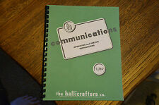 "Hallicrafters S-38D Radio Operation Service Manual With 11x17"" Foldout Schematic"