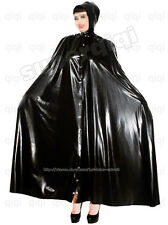 Latex rubber Robe 0.45mm dress catsuit suit cape hoody goth mantle cloak poncho