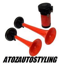 MONSTER Air Horn 12V Twin Set DUAL TONE * 115dB * AUTO / FURGONE / AUTOCARRO / BARCA & LT & LTNEW & GT e GT