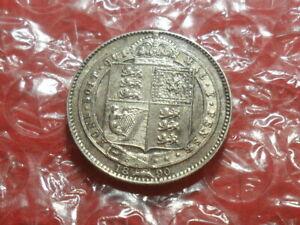 1890 Victoria Jubilee Head shilling.