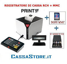 REGISTRATORE DI CASSA/STAMPANTE FISCALE RCH PRINT F + TASTIERA + DGFE + CASSETTO