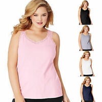 Just My Size JMS Lace Tank Cami Top OJ314