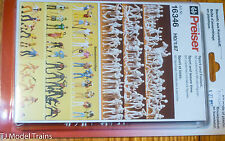 Preiser Ho #16346 Unpainted Figure Set - Sport & Leisure (80 Figures in pkg)