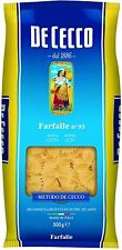 De Cecco FARFALLE nr 93 spaghetti da hartweizengriess 500g 6er Pack