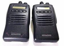 Lot Of 2 Kenwood TK-3140-1 UHF Two-Way Radios