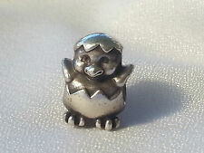 Authentic Pandora Easter Chick Hatching Chicken Charm 790528 retired rare