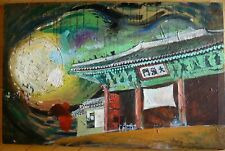 KWAE YUN Contemporary Modern MODERNISM SEMI ABSTRACT ABSTRACTION KOREAN COLORISM
