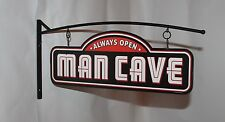 MAN CAVE always open Bar Sign Custom Wall Mount Hanging Metal Sign two sided