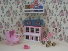 More details for dolls house miniature 1/12th scale miniature pink girls toys play set bs22