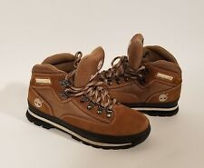 Timberland Women's Euro Hiker Boot Leather Mesh Mid Hiking Boots Rust Color 9M