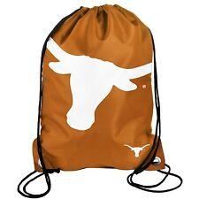 5d35e19faf Texas Longhorns Drawstring Backpack Back Pack Sack Gym Bag NEW NCAA BIG LOGO