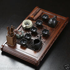authentic yixing zisha tea set Wenge wood tea tray complete tea set in chinese