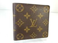 Auth Louis Vuitton Monogram Portofille Marco N61675 Leather Wallet B1023-13-1