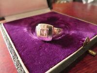 Schöner 925 Silber Ring  Elegant Zirkonia Wie Diamant Solitär Kissenschliff