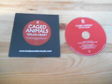 CD Indie Caged Animals - Teflon Heart (2 Song) Promo LUCKY NUMBERS cb