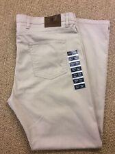 Men's M&S W42 L33 Beige Stretch Lightweight Jeans New
