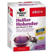 DOPPELHERZ Heißer Holunder m.Vit.C+Zink Granulat 10 St PZN 9071450