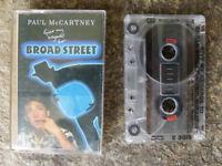 VINTAGE BEATLES CASSETTE WITH CASE - PAUL McCARTNEY, BROAD STREET