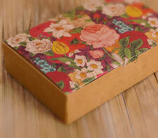 Kraft Paperboard Bakery Box/Moon cake/Candy /Cookies/Gift Box  ( pack of 12)