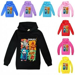 ROBLOX Cartoon Kids Hooded Tops Long Sleeve Kids Boys Girls Hoodie Costume Jumpe