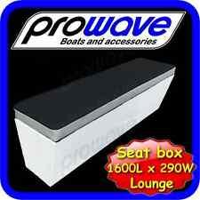 Boat Seat box or lounge 1600L x 290W x 365H - Black