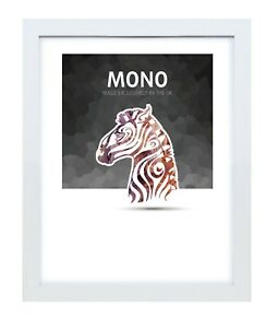 Ultimat Frames Mono Style  Solid Wood Photo/Picture Readymade Frame - White