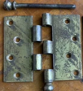 Antique 1 (One) STANLEY Sweetheart 4 X 4 Door Hinge w Removable Pin