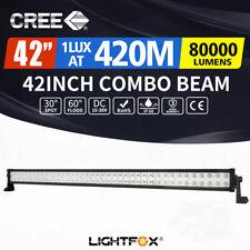 "LightFox 42""inch Cree LED Light Bar Spot Flood Driving Lamp Offroad 4WD Truck"