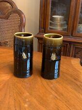 Pottery - 1960s 2 Ceramic or stoneware handmade vases, S.K.L Triangle, Thailand