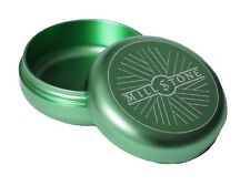 Millstone Tobacco Herb Storage Jar Smell Proof Tin Air Tight Container Box Green