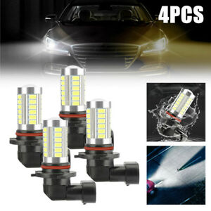 4 Bulbs 9005+9006 Combo LED Headlight 240W 30800LM High Low Beam 6000K White Kit