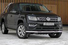 BARRE SOUS PARE CHOC INOX LEDS VW AMAROK 16-, avec feux diurnes à LED (DRL),
