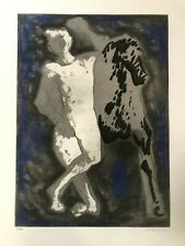 MARINO MARINI - Hommage to Michelango - lithograph -  handsigned/numbered - 1975