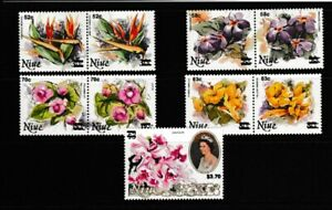 Niue:1983:Various Stamps with Optd.Set.MNH