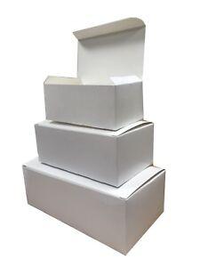 WHITE RECTANGULAR BOXES - FAST FOOD CARDBOARD TAKEAWAY BOX - CAKE SHOP PACKAGING