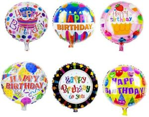 Happy Birthday Balloons Aluminum Foil Balloons Birthday Wedding Party Decoration