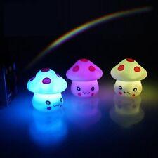 7 Color Romantic Mushroom Christmas LED Night Light Lamp Battery Party Decor