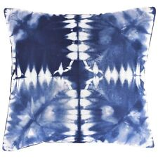 """Indian Indigo Tie Dye Cushion Covers Ethnic 16"""" Cotton Pillow Cover Hand Dyed"""