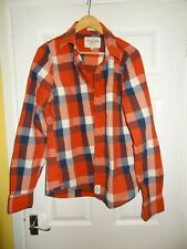 Abercrombie & Fitch Checked Muscle Shirt. Men's Large Red/Blue/White
