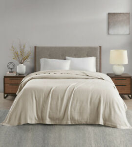 Hotel Collection 100% Egyptian Cotton King Blanket Ivory/Beige $220