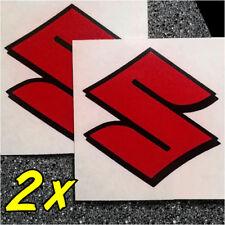 Suzuki S Logo Reflective Red decals 1000 1100 gsxr 85 rmz 600 gsxs 750 drz 450 r