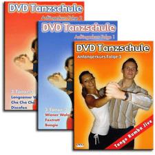 3 DVD Set Tanzschule Tanzkurs - Discofox Tango Walzer Boogie Jive Tango Foxtrott