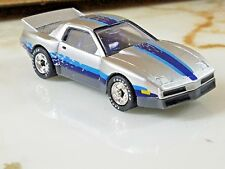 VINTAGE MATCHBOX 1985 PONTIAC FIREBIRD RACER SILVER & BLUE w RUBBER TIRES 1/64