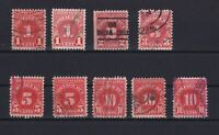 UNITED STATES  POSTAGE DUE STAMPS  1930 -31   REF 5280
