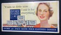 1933 P&G Ivory Soap Trolley Cardboard Advertising Sign Flapper Girl Grocery stor