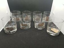 New listing 8 Evan Williams Rocks Glasses Single Barrel Vintage Bourbon Whiskey Set