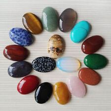 Wholesale 10pcs/lot Mixed Natural Gemstone Oval CABOCHON Stone Beads 20*30mm