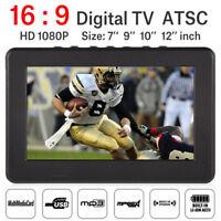"Mini Portable 12"" LED DVB-T/T2 TV Player 1080P AV/USB/TF Digital Television DY"