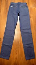 CHANEL NWT Women's Blue Straight Leg Front Zippers Jeans Pants Sz 34